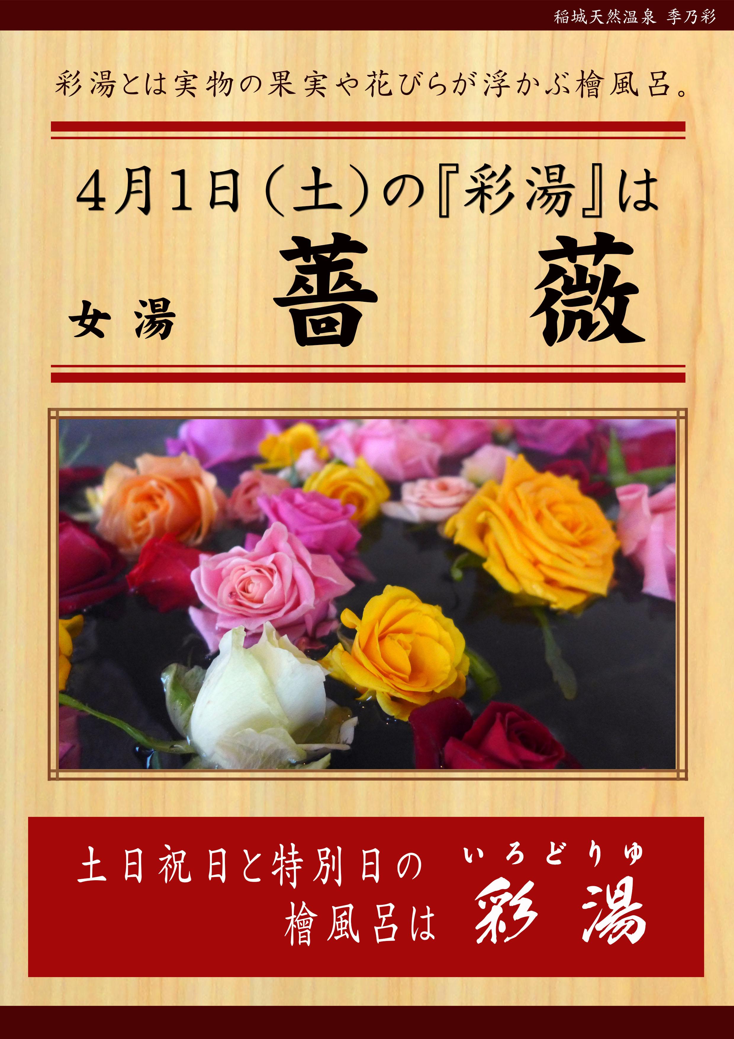 20170401POP イベント 彩湯 女湯 薔薇