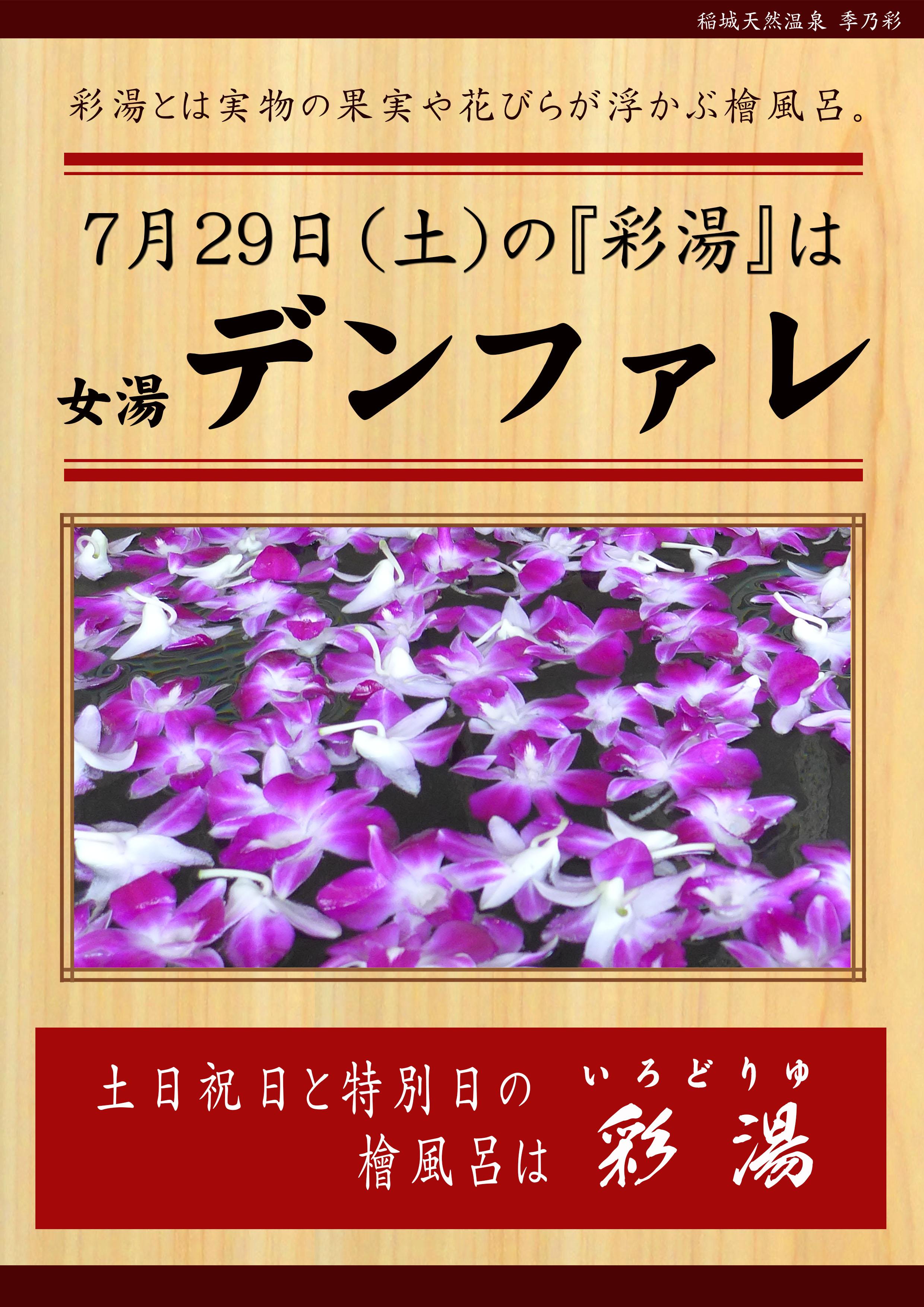 20170729POP イベント 彩湯 女湯 デンファレ