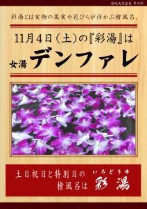 20171104POP イベント 彩湯 女湯 デンファレ