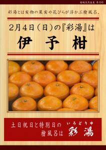 20180204POP イベント 彩湯 伊予柑