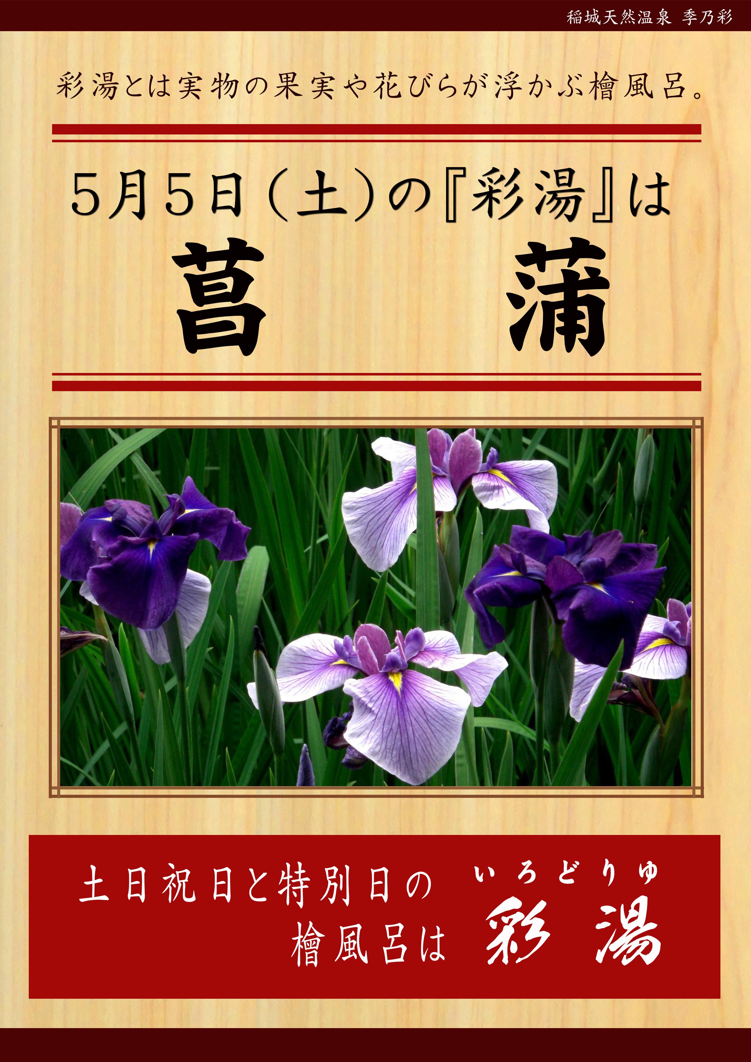 20180505POP イベント 彩湯 男湯 菖蒲