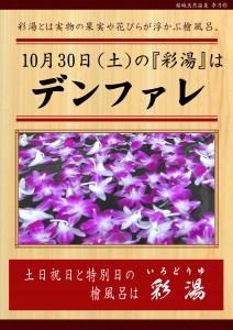 20211030 POP イベント 彩湯 男女湯 デンファレ